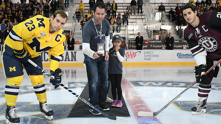 Ceremonial face-off at U-M hockey game to spread ALS awareness