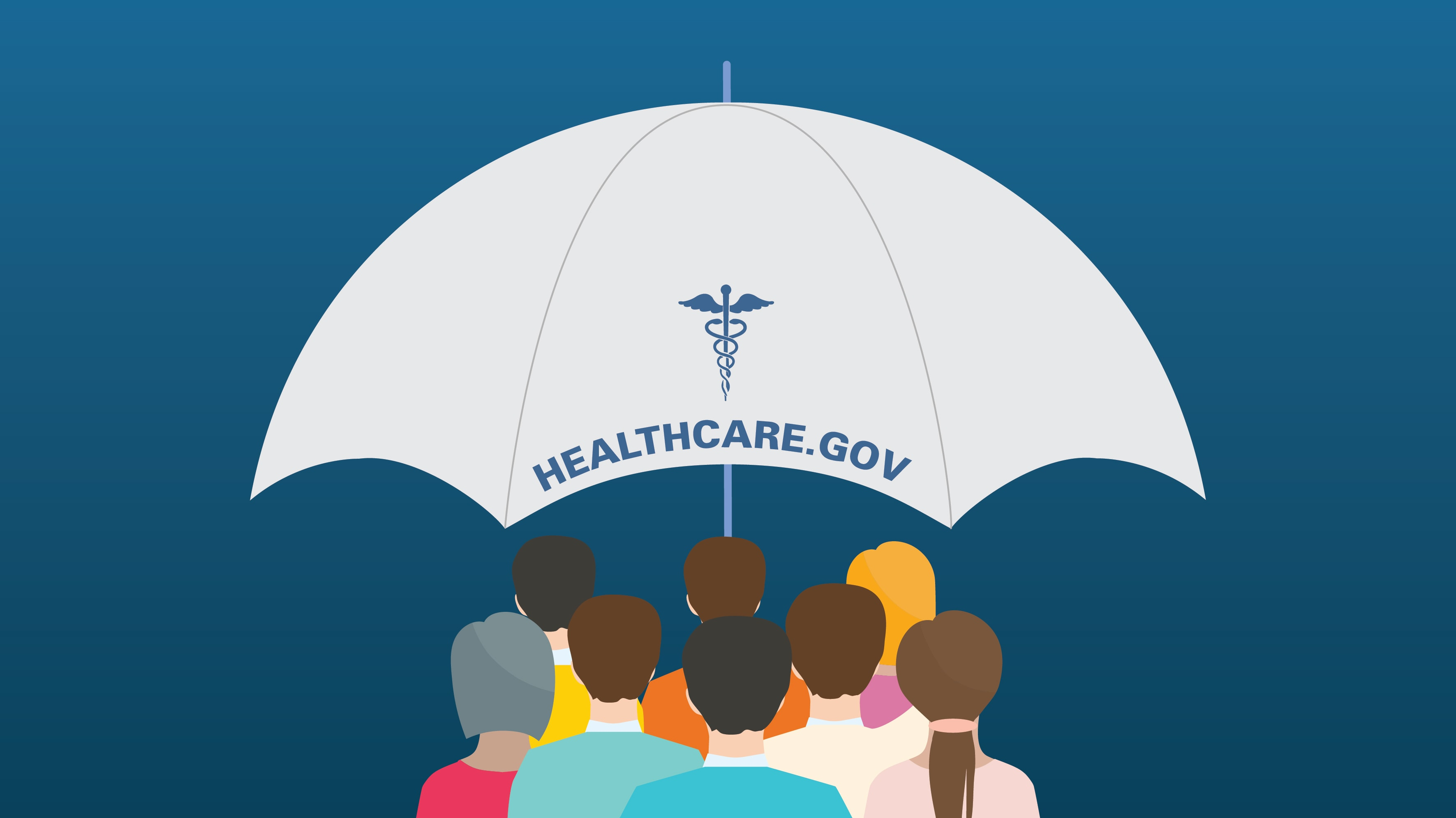 A group of people under the ACA's healthcare.gov umbrella