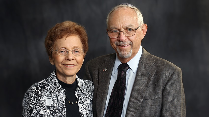 Picture of Lewy Body Dementia patient Barry and his wife Annette