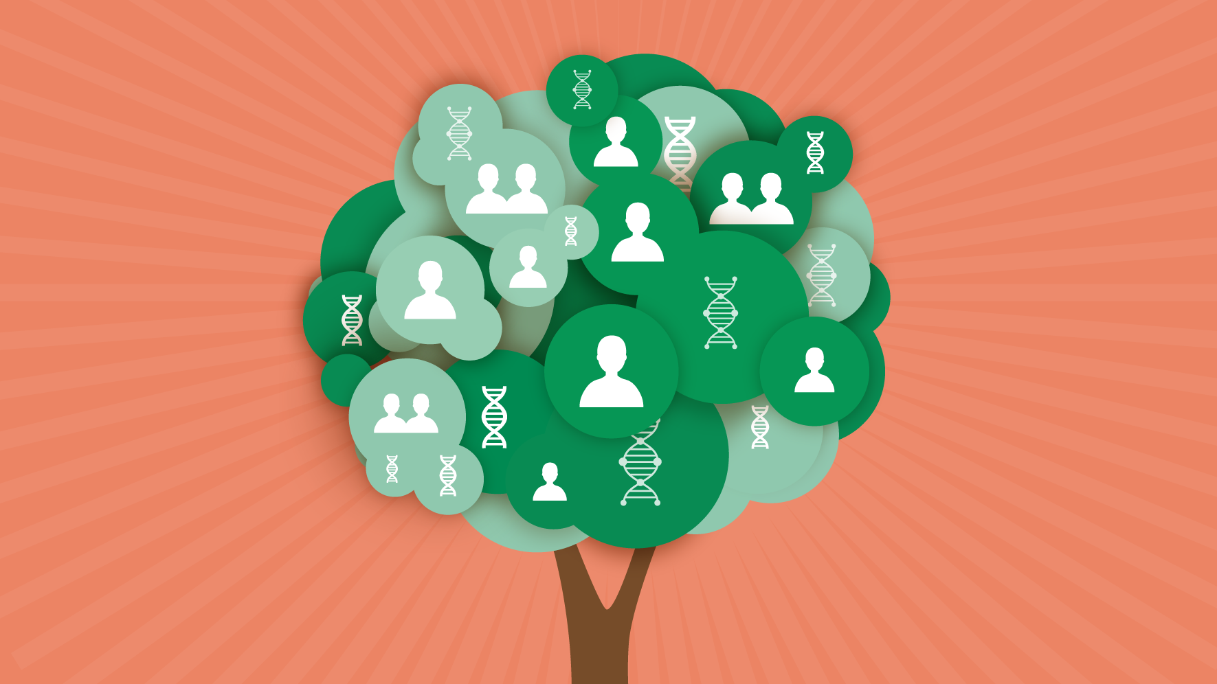 Illustration depicting how cancer genetic testing can impact your family tree
