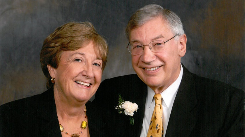 Lewy body dementia caregiver Sue and her husband