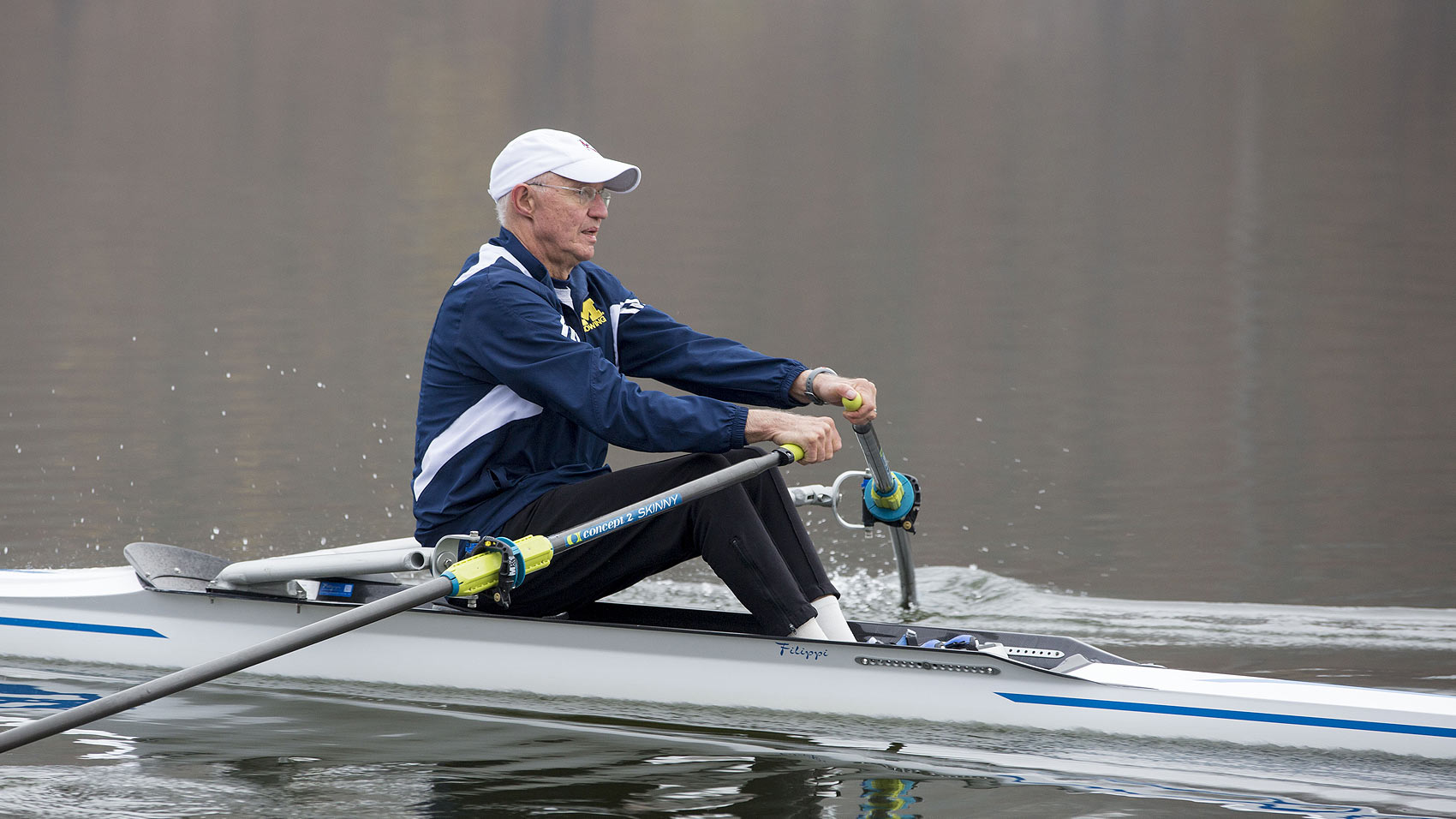 James Montie, M.D rowing after his catheter ablation