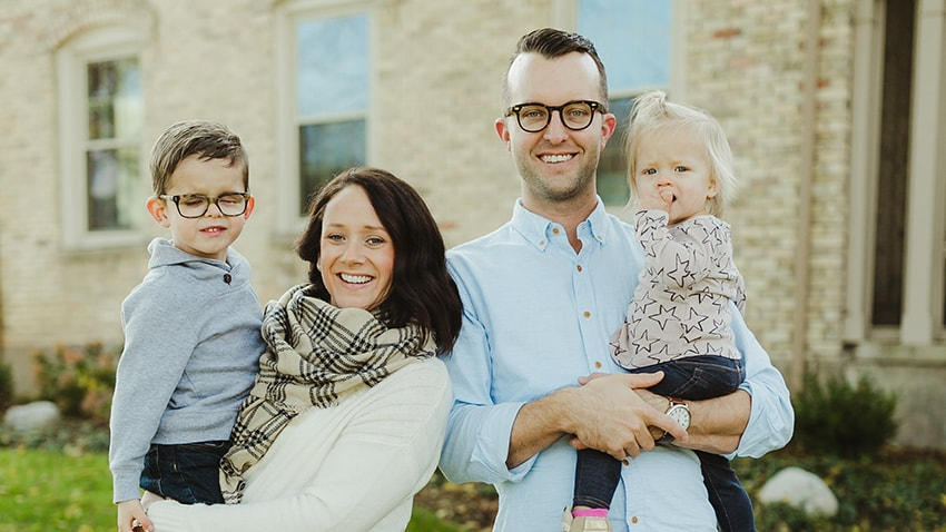 The Harrison family, creators of Jonas Paul Eyewear