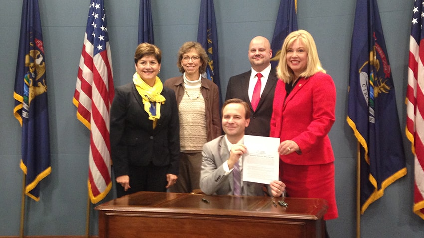 The signing of Senate Bill 647 requiring high schools to teach CPE & AED usage