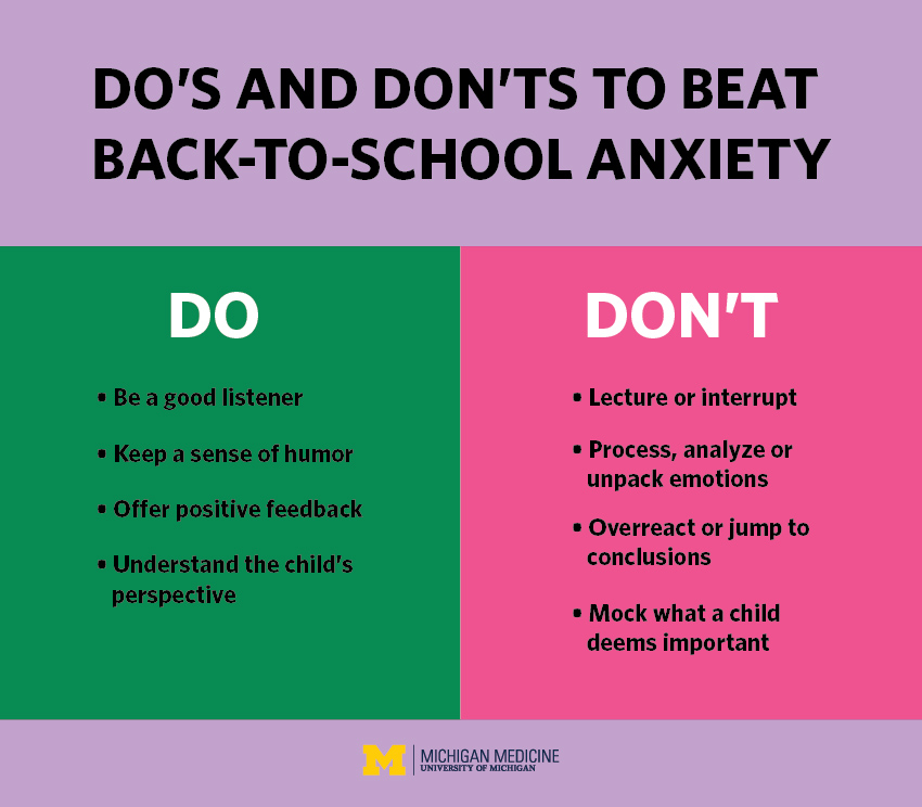 Do's and Don'ts for Parents to Beat Back-to-School Anxiety