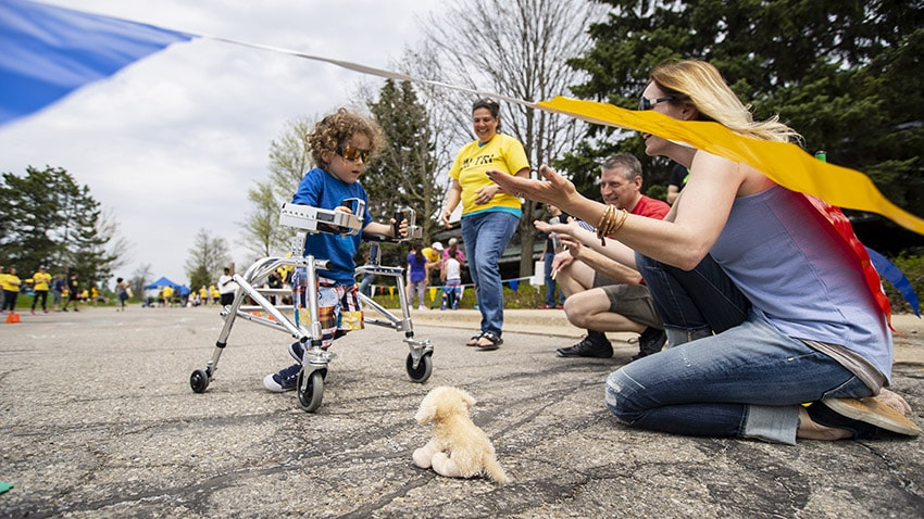 Children with Disabilities Compete in U-M's First Adaptive