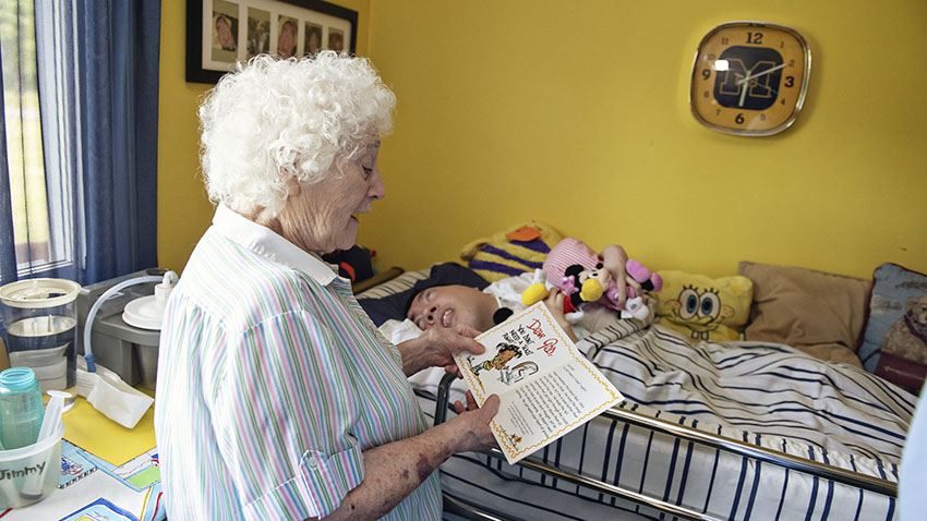 Foster Mom Reading image