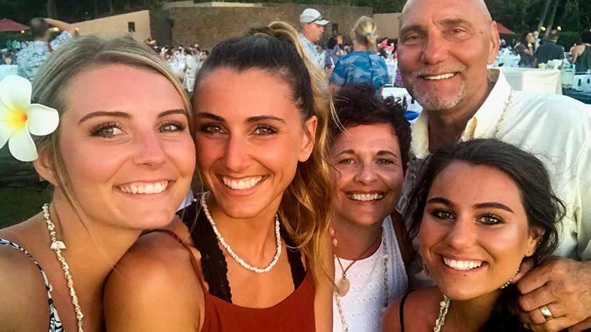 Paul and his family on Hawaii vacation