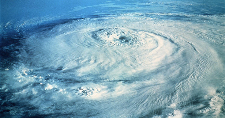 Hurricane from above