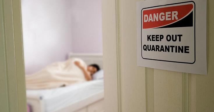 person in quarantine