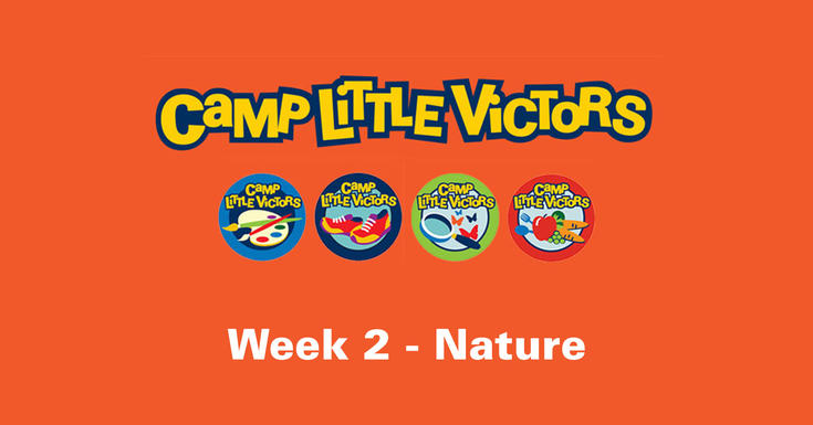 camp little victors orange logo