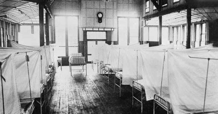 old hospital beds lined up