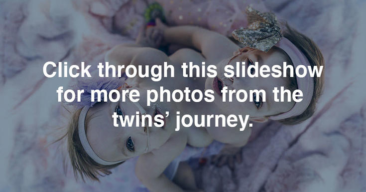 Click through this slideshow for more photos from the twins' journey.