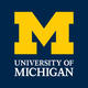 UM logo in navy blue background and yellow M